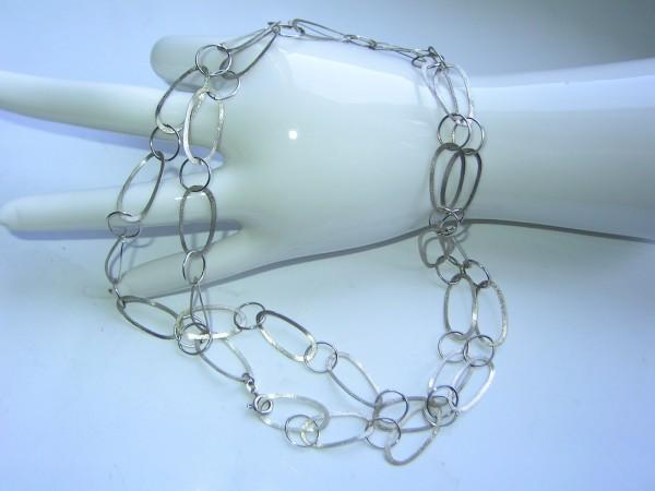 VINTAGE Kette-800er Silber-70's Design