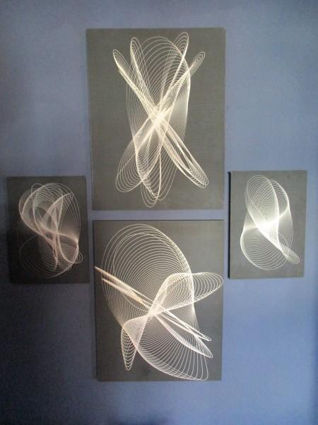 Vier VINTAGE Bilder-Fadenbilder-Design M. Aschendorff