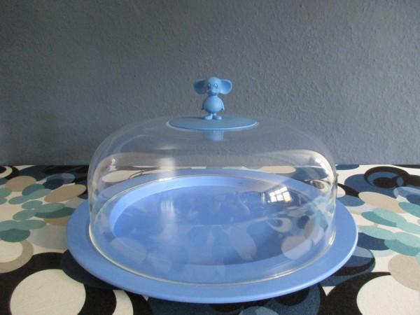 Tolle VINTAGE Tortenplatte mit Haube-ALESSI