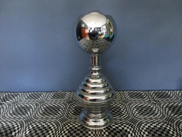 Große MIDCENTURY Tischlampe-Chrom Ball