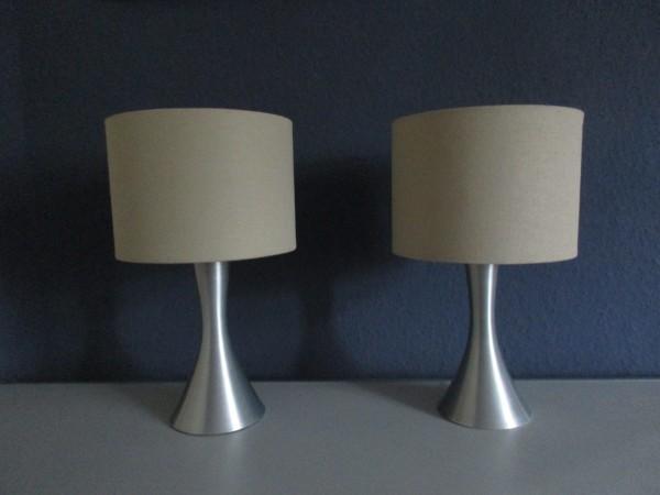 Zwei VINTAGE Tischlampen-Trompetenfuss-Tulip