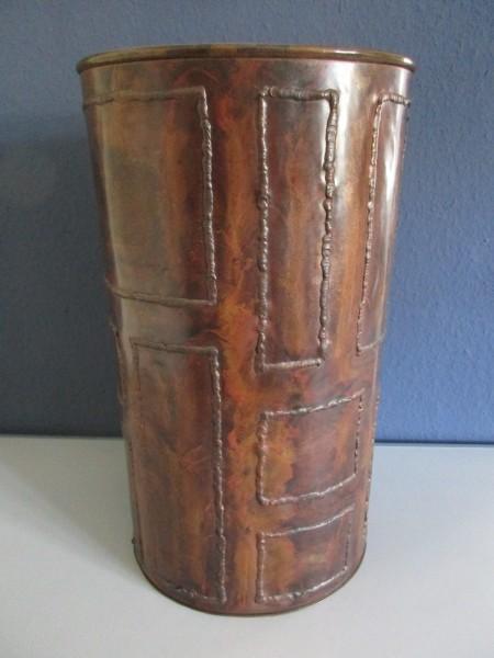 Midcentury Papierkorb-Kupfer-UNIKAT