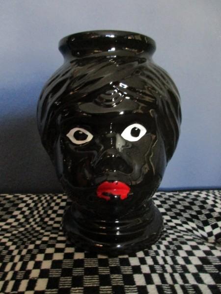 Seltener Mohrenkopf Übertopf-Vase-SCHEURICH