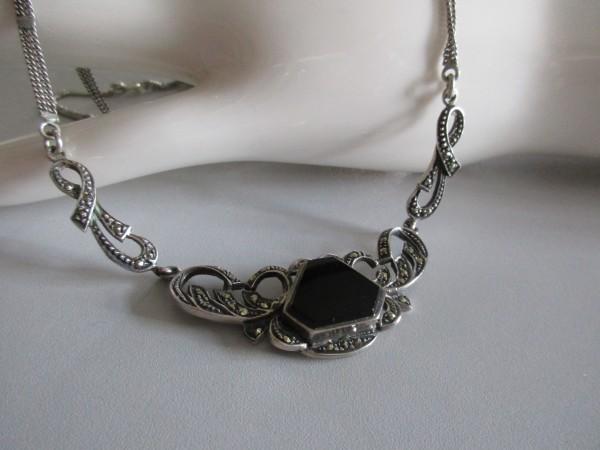Antikes Jugendstil Collier-Silber