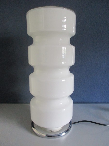 MIDCENTURY Tischlampe-MURANO Glas