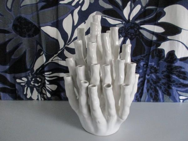 Midcentury Korallenvase-POLS POTTEN-Porzellan