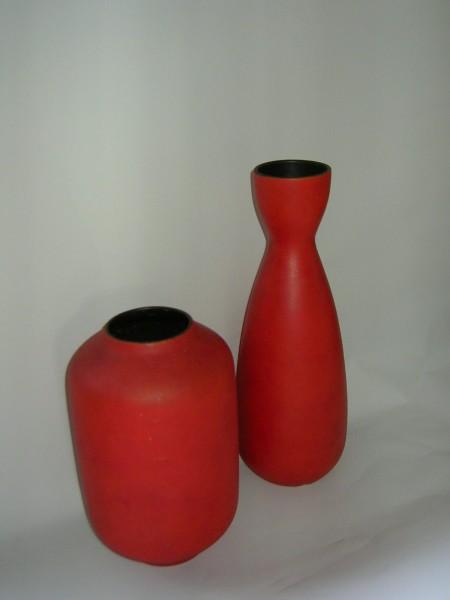2 Keramik Vasen-60's Design