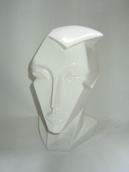Stylische Skulptur- Kopfhörerhalter-Porzellan