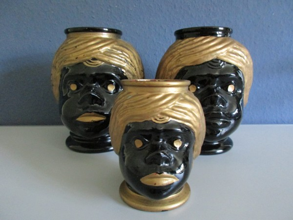 Midcentury Mohrenkopf Vasen-Glas-