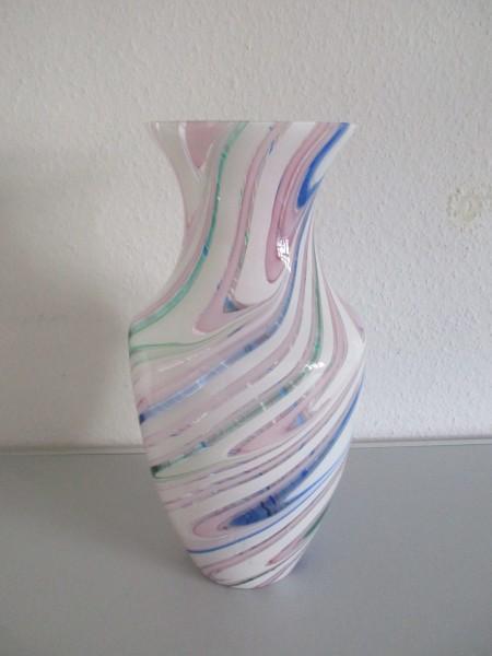 Traumhafte MURANO Glas Vase-signiert