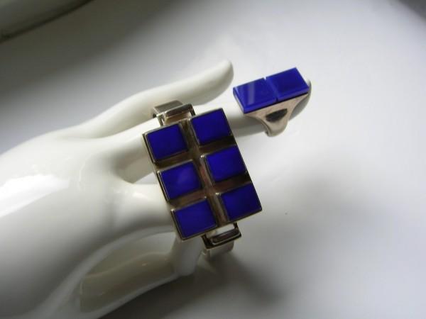 Extravagantes Designer Schmuckset-925er Silber-Unikate