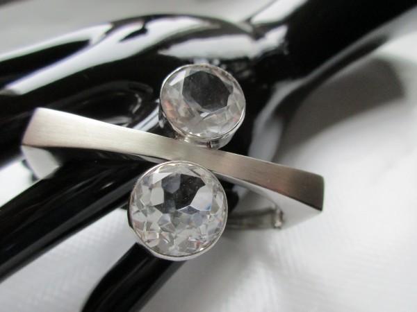 Schöner Vintage Armreif-835er Silber-70's Design